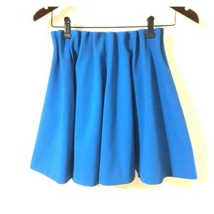 Bright blue skirt from H&M